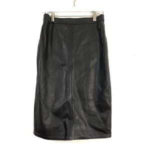 Vintage GianFranco Genuine Leather Pencil Skirt